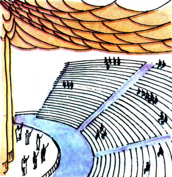 рисунок натяжных потолоков