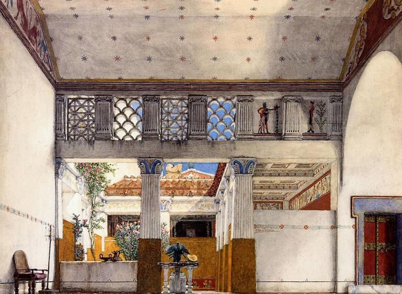 рисунок потолков в древности